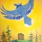 Blue jay aviary