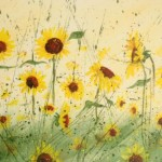 sunflower spatter